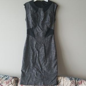 Le Chateau Fitted Dress w/boat neck, cinch waist